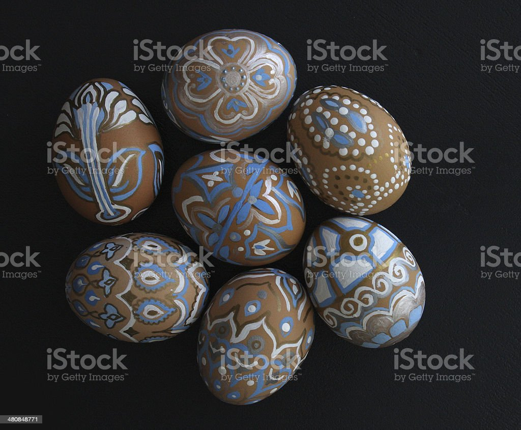 Painted Blown Eggs stock photo
