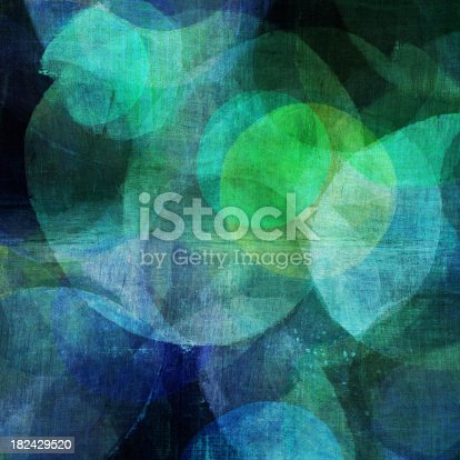 istock Painted Blue and Green Circles 182429520