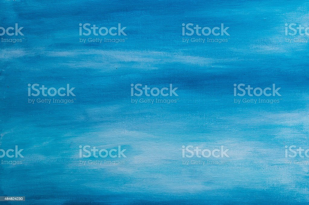 Painted Blue Background stock photo