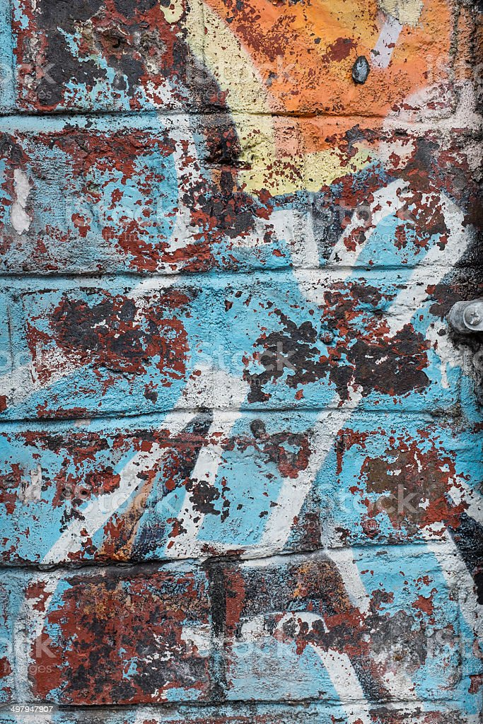Painted Brick Wall Background royalty-free stock photo