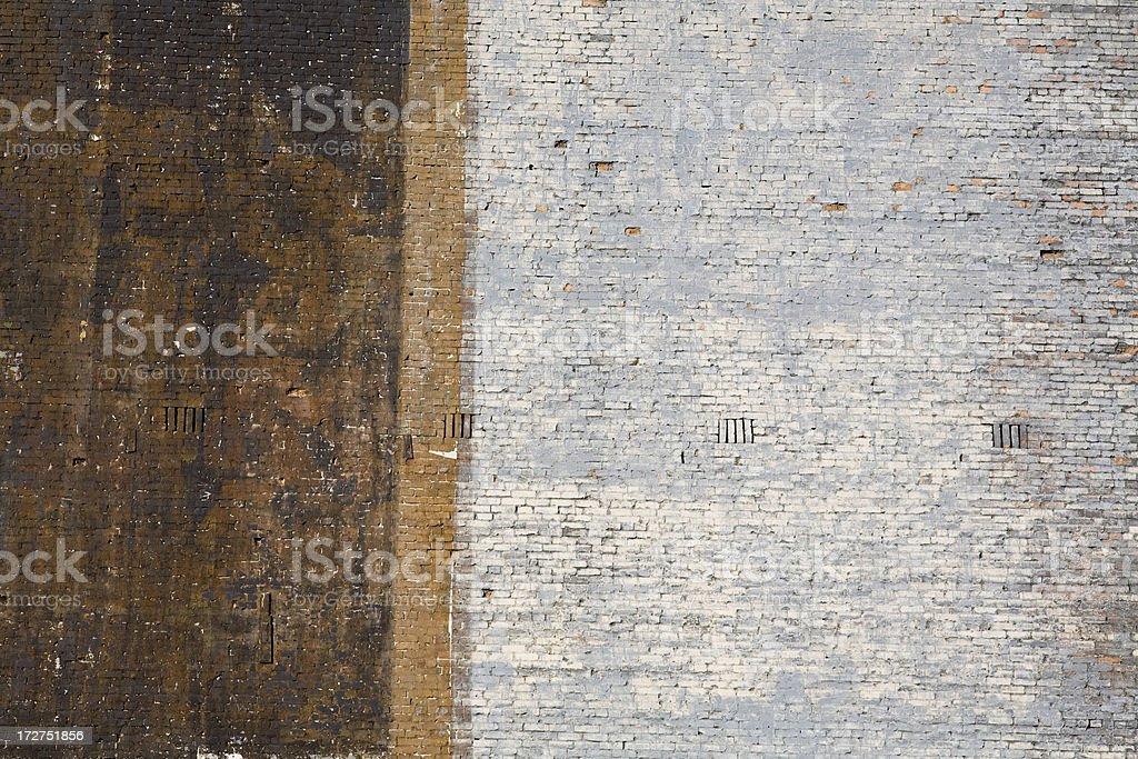 Painted brick wall royalty-free stock photo