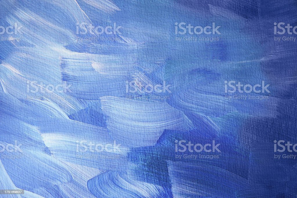 Painted canvas - blue and white stock photo