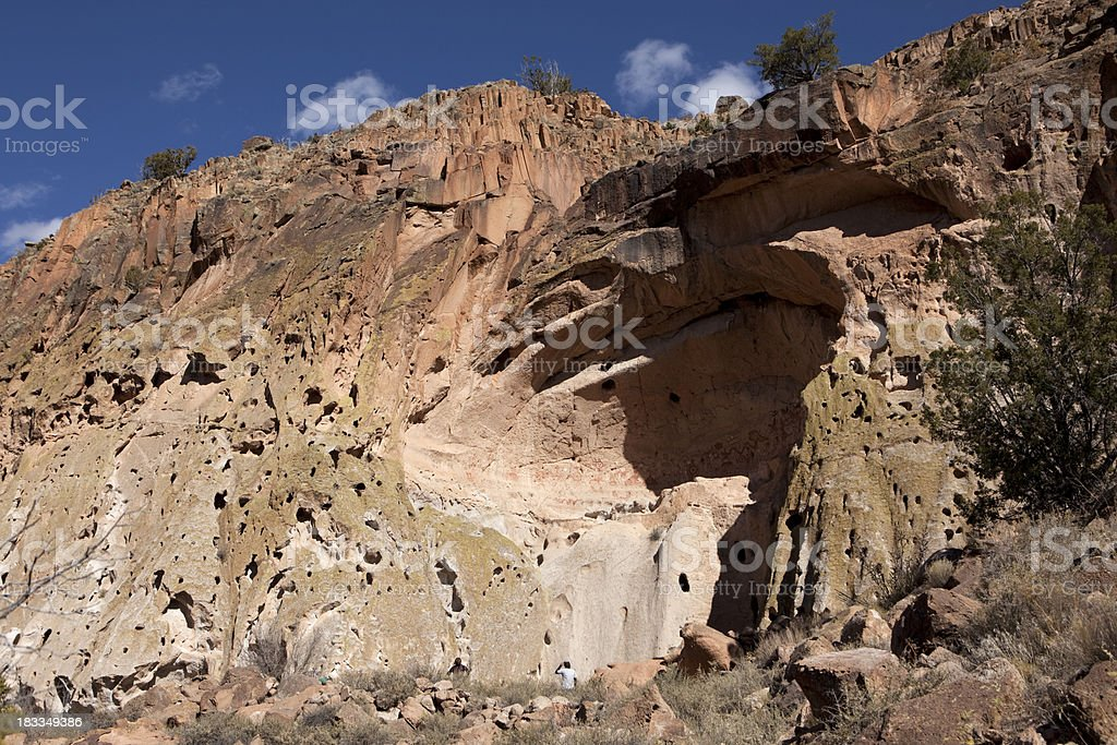 Painted Cave in Bandelier National Monument New Mexico royalty-free stock photo