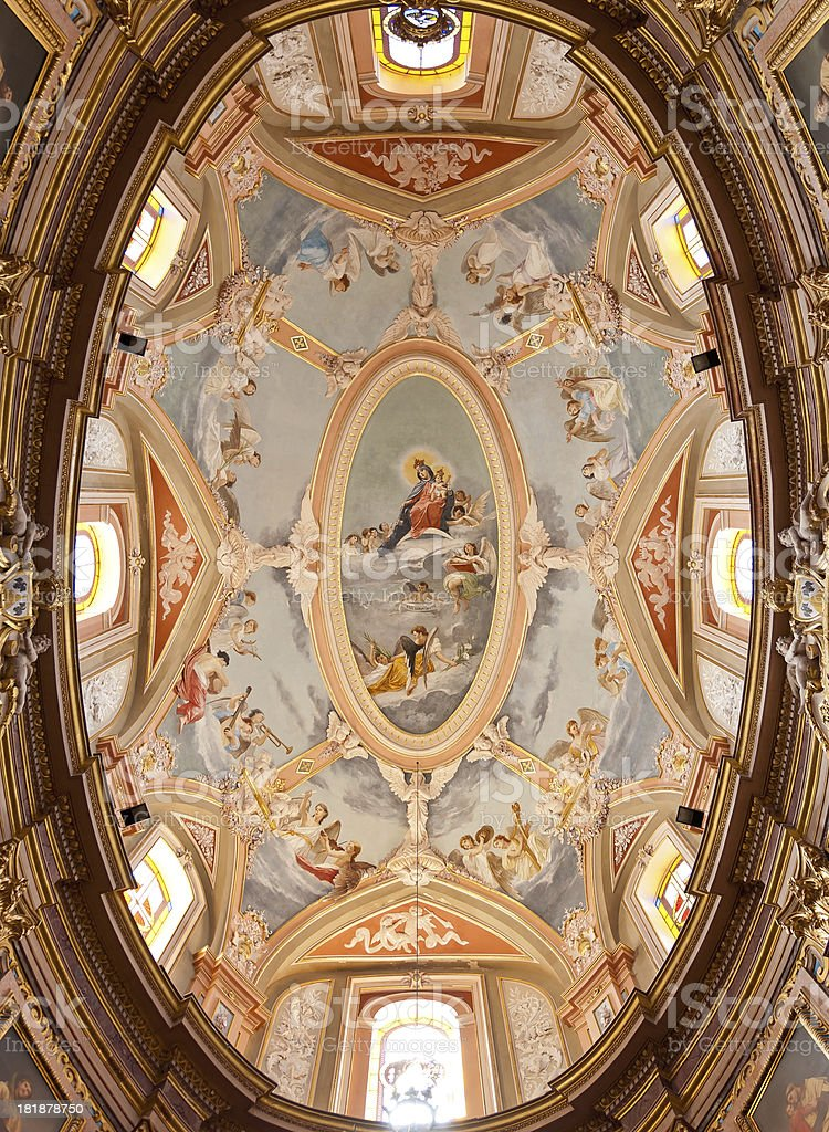 Painted Ceiling royalty-free stock photo