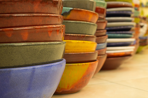 Painted ceramic bowls