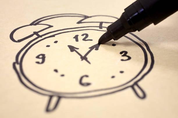 Horloge peinte - Photo