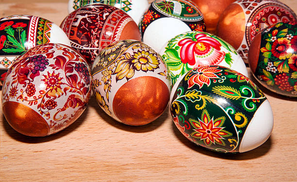 Painted colorful easter eggs – Foto