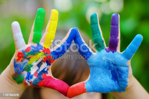 istock painted colorful hands 176794026