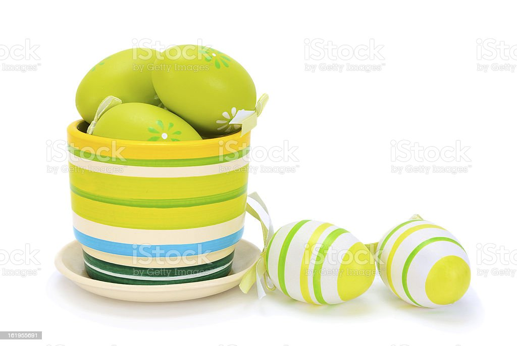 painted colourful easter eggs royalty-free stock photo