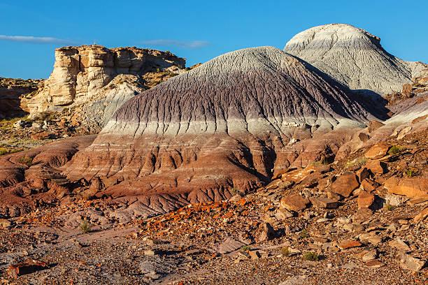 Painted Desert Badlands Petrified Forest National Park stock photo