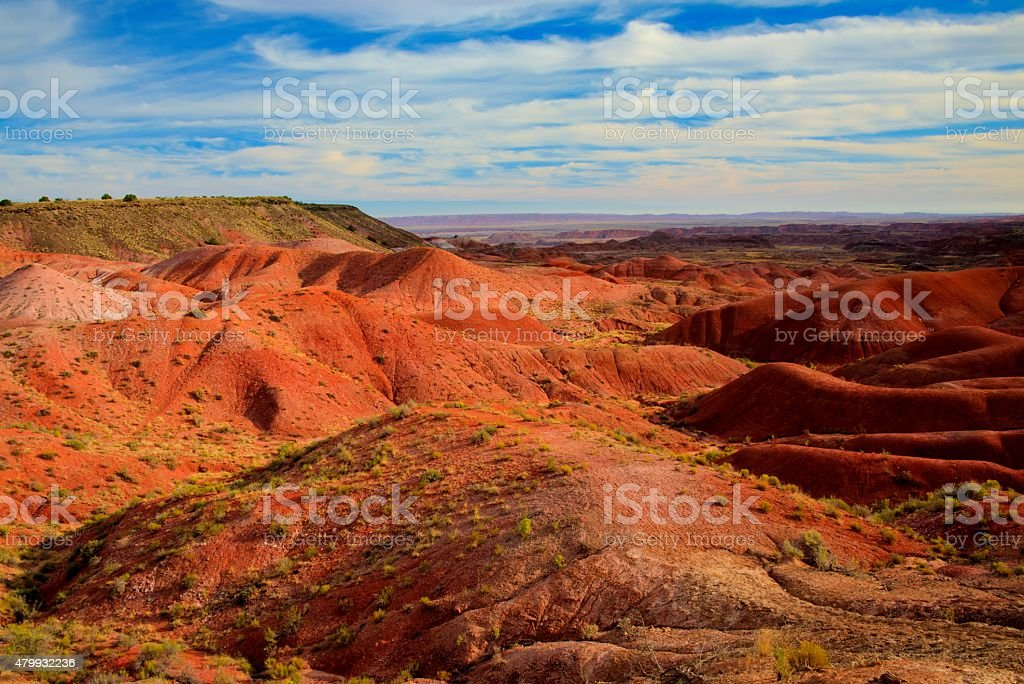 Painted Desert in Petrified Forest National Park stock photo