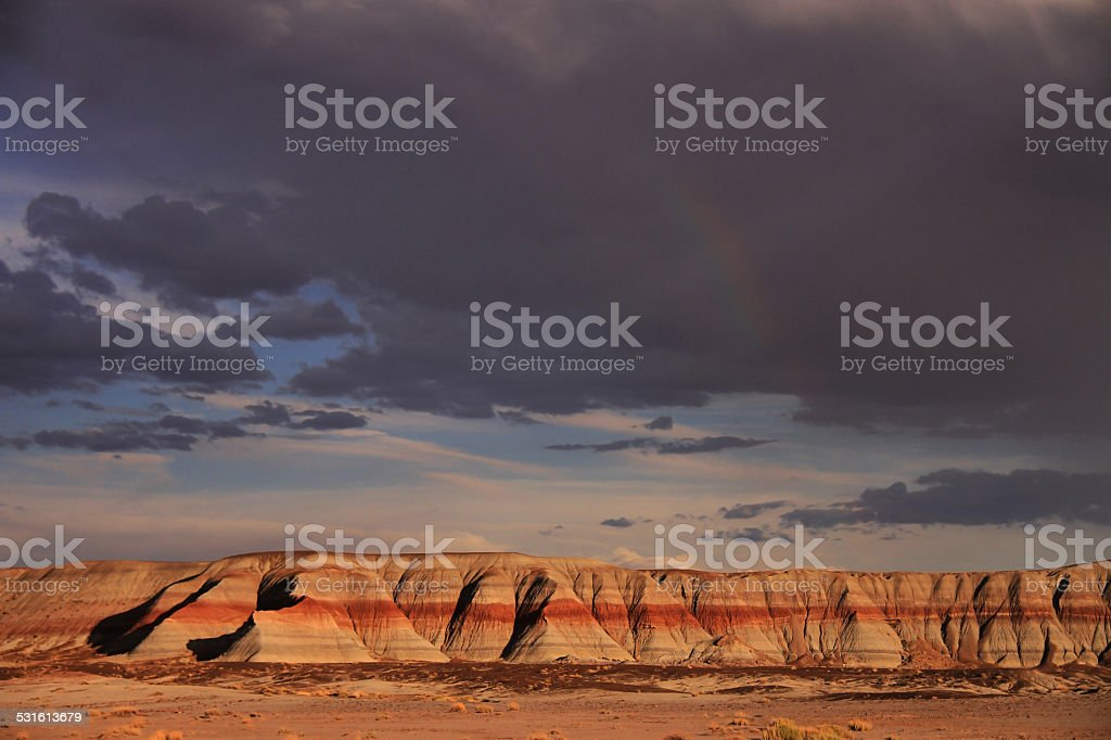 Painted Desert & Petrified Forest stock photo