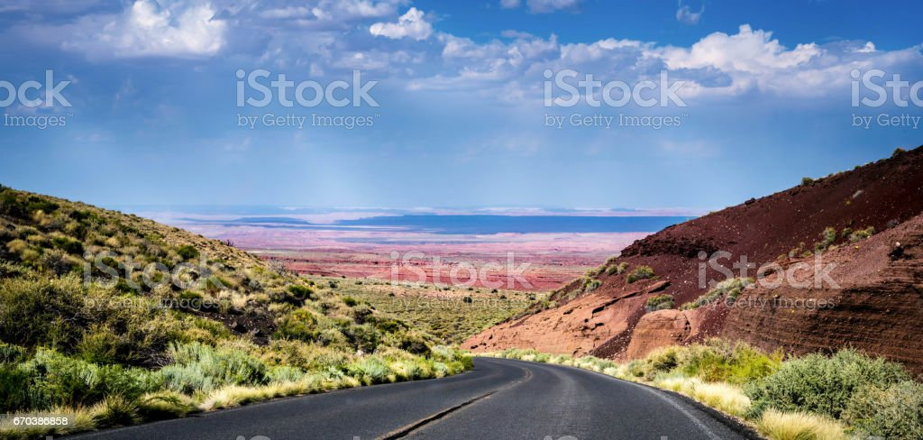 Painted Desert with vibrant colors stock photo