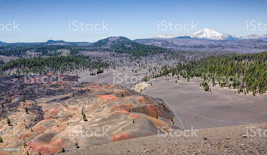 Painted Dunes - Mount Lassen stock photo