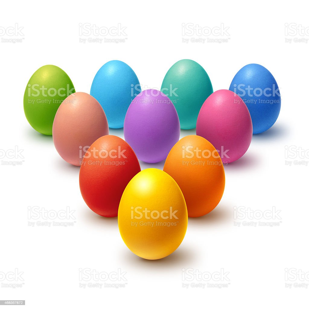Painted Easter eggs collection royalty-free stock photo