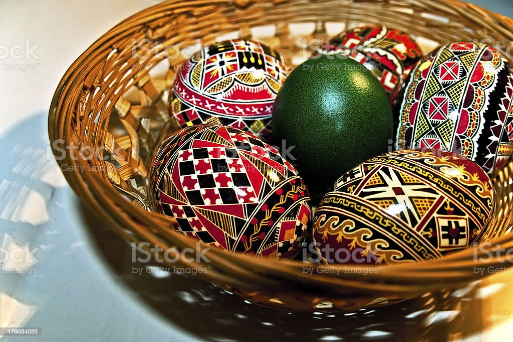 Painted Easter eggs royalty-free stock photo