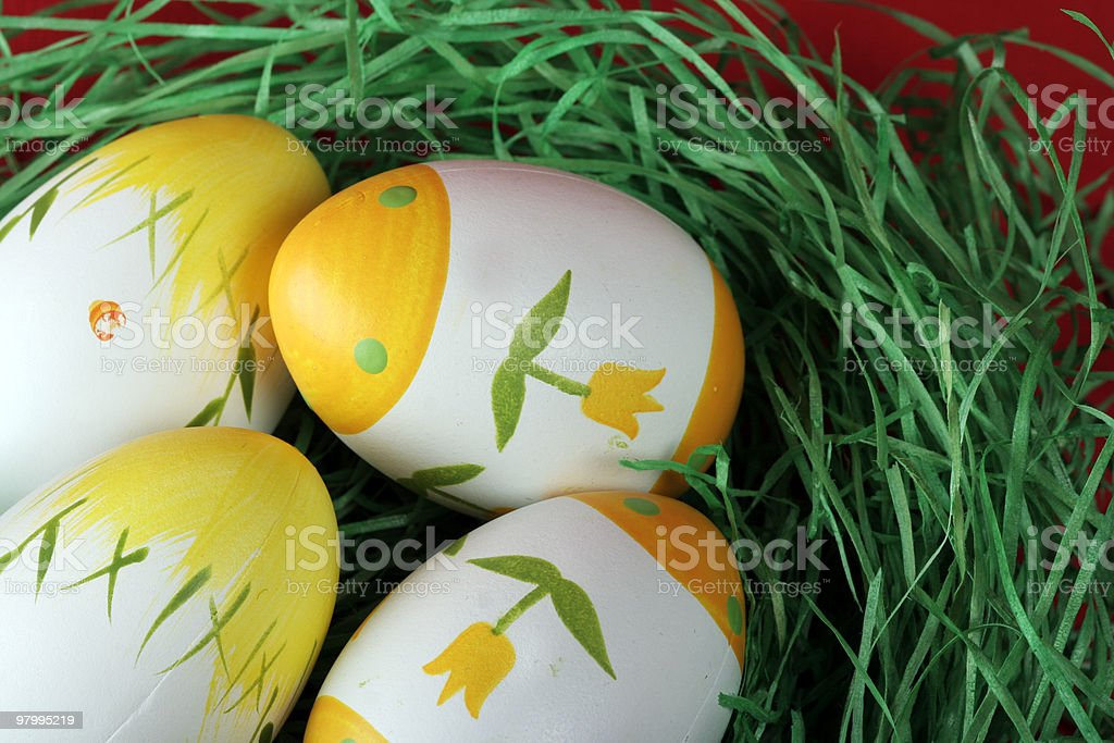 Painted easter eggs. royalty-free stock photo
