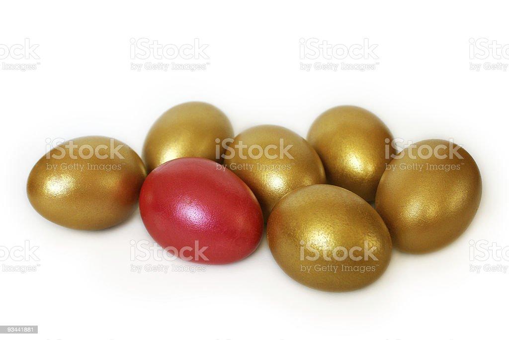 Bunte Eier für Ostern Lizenzfreies stock-foto