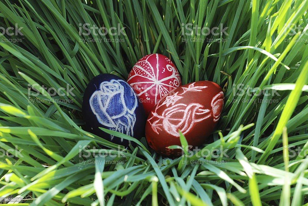 Dipinto uova foto stock royalty-free