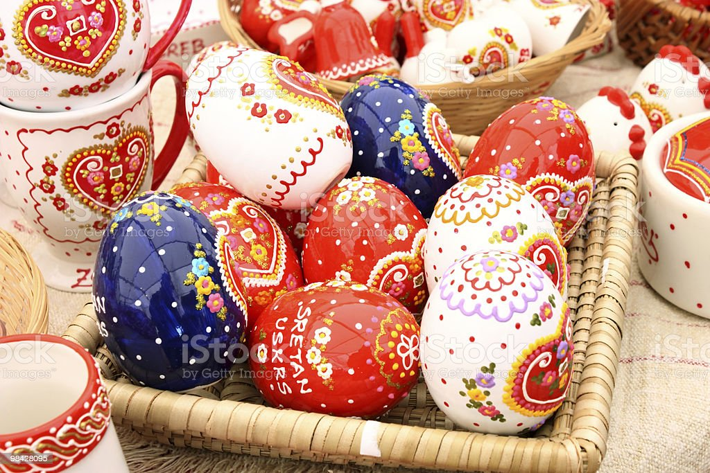 Painted eggs royalty-free stock photo