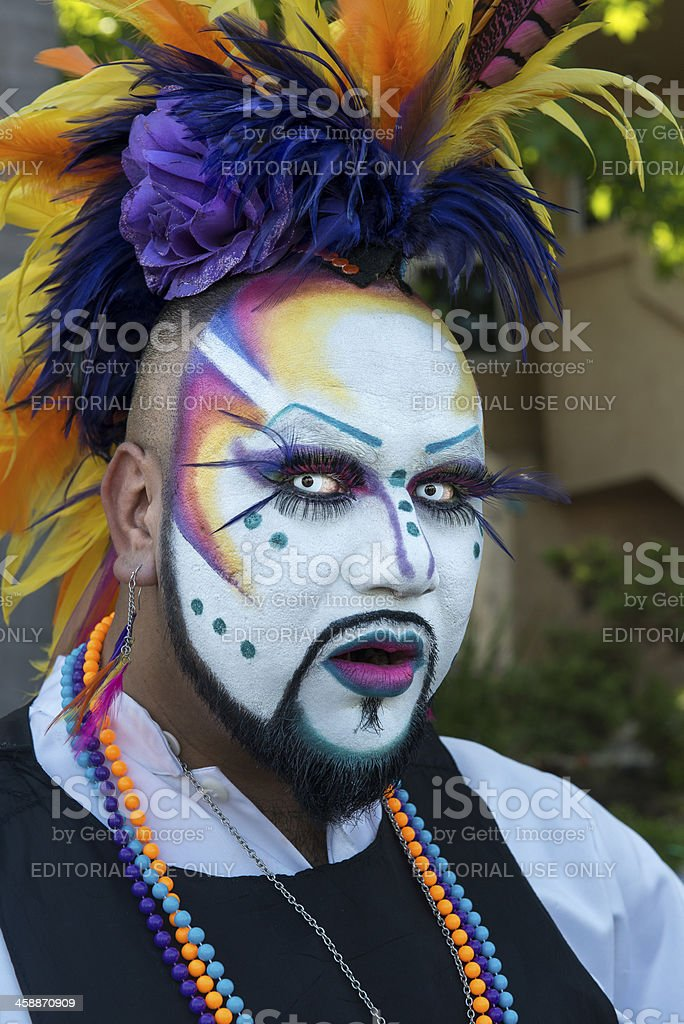 Painted face royalty-free stock photo