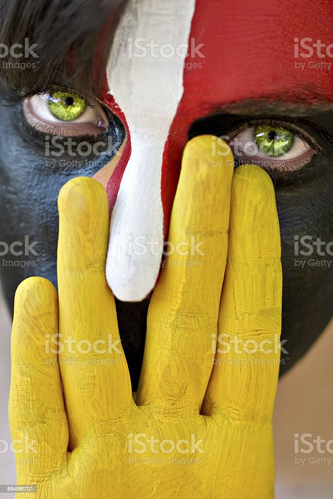 Painted face royalty free stockfoto