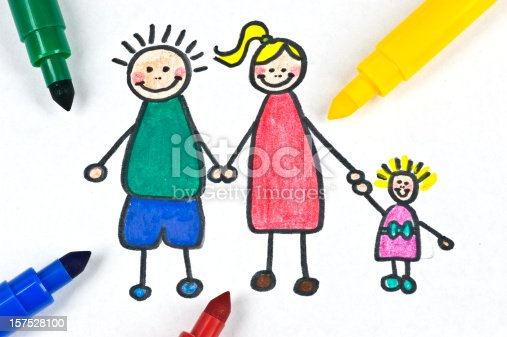 istock painted family illustration 157528100