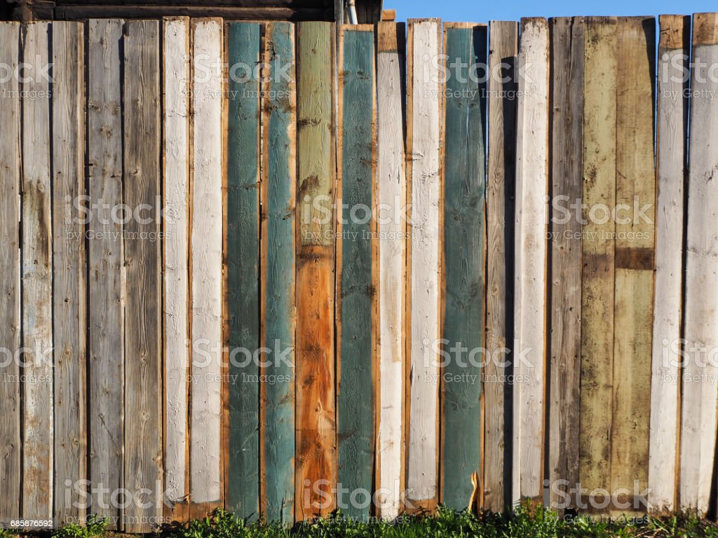 wood picket fence texture. Painted Fence Background. Planked Wooden Texture Flat Lay Photo Design Royalty-free Stock Wood Picket I