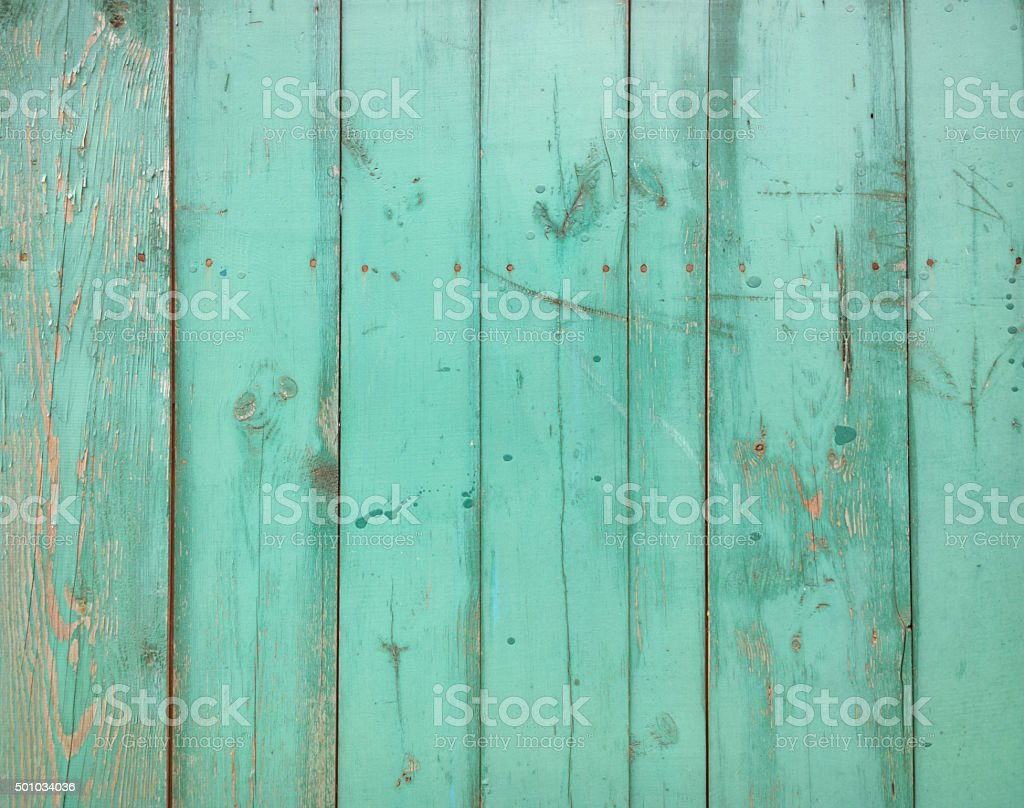 Painted fence. stock photo