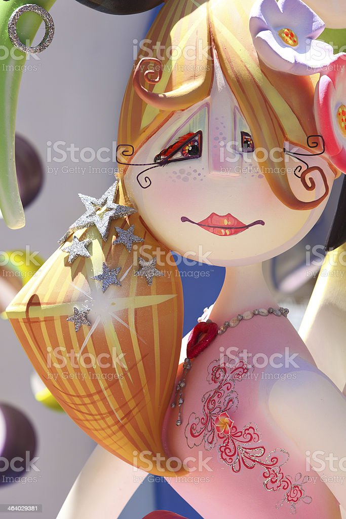 Painted figure royalty-free stock photo