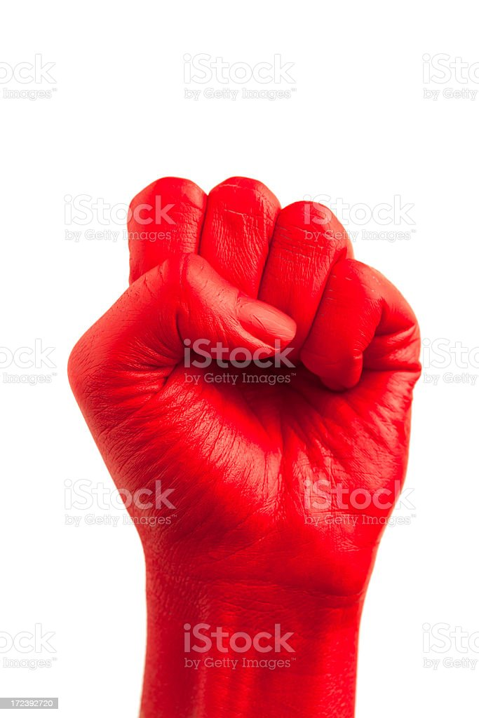 painted fist royalty-free stock photo