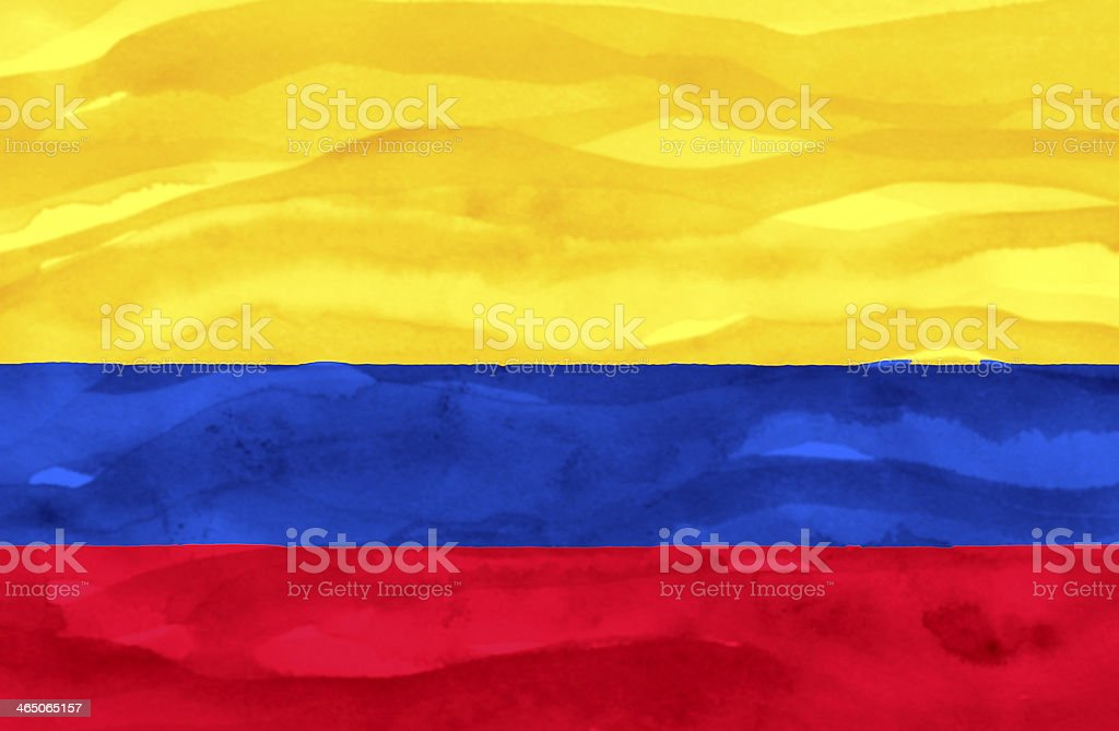 Painted flag of Columbia stock photo