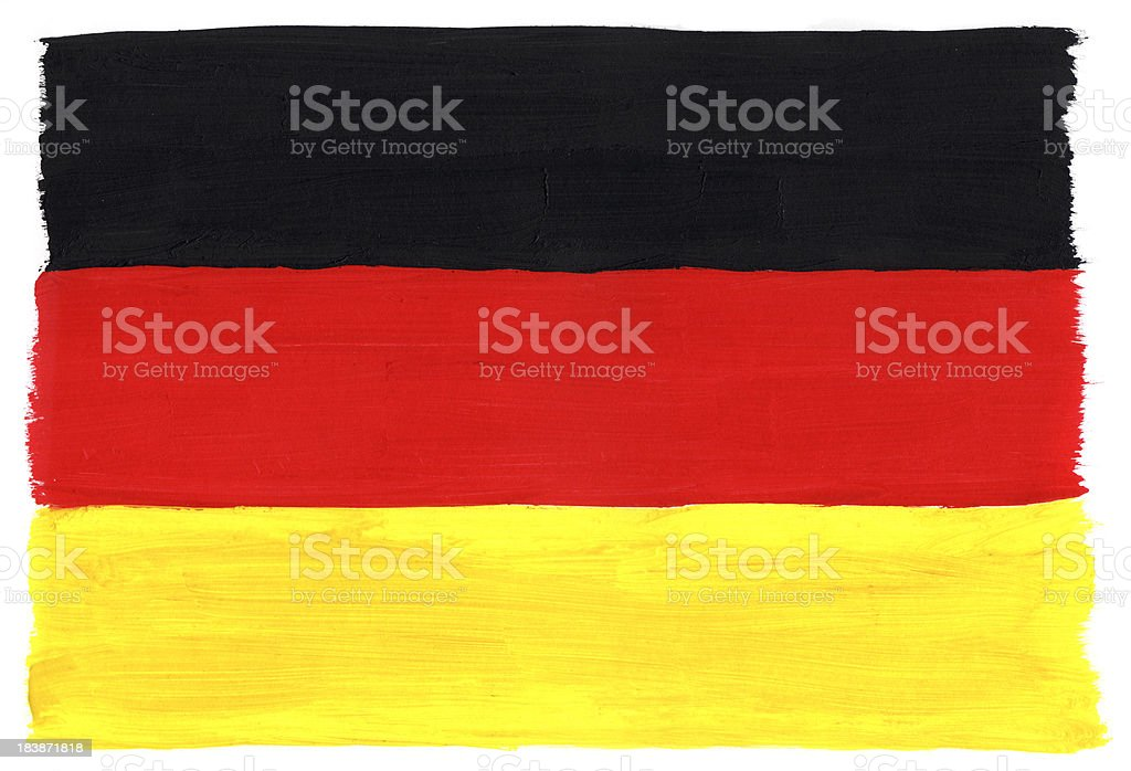 Gemalte Flagge von Deutschland – Foto