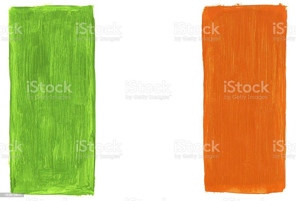Gemalte Flagge von Irland – Foto
