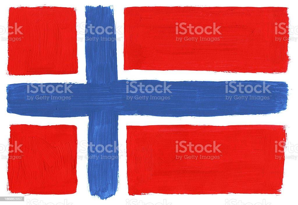 Gemalte Flagge von Norwegen – Foto