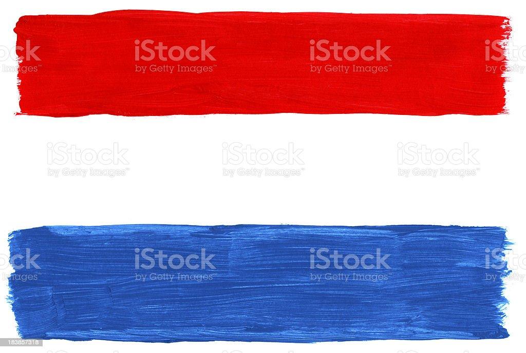 Gemalte Flagge der Niederlande – Foto