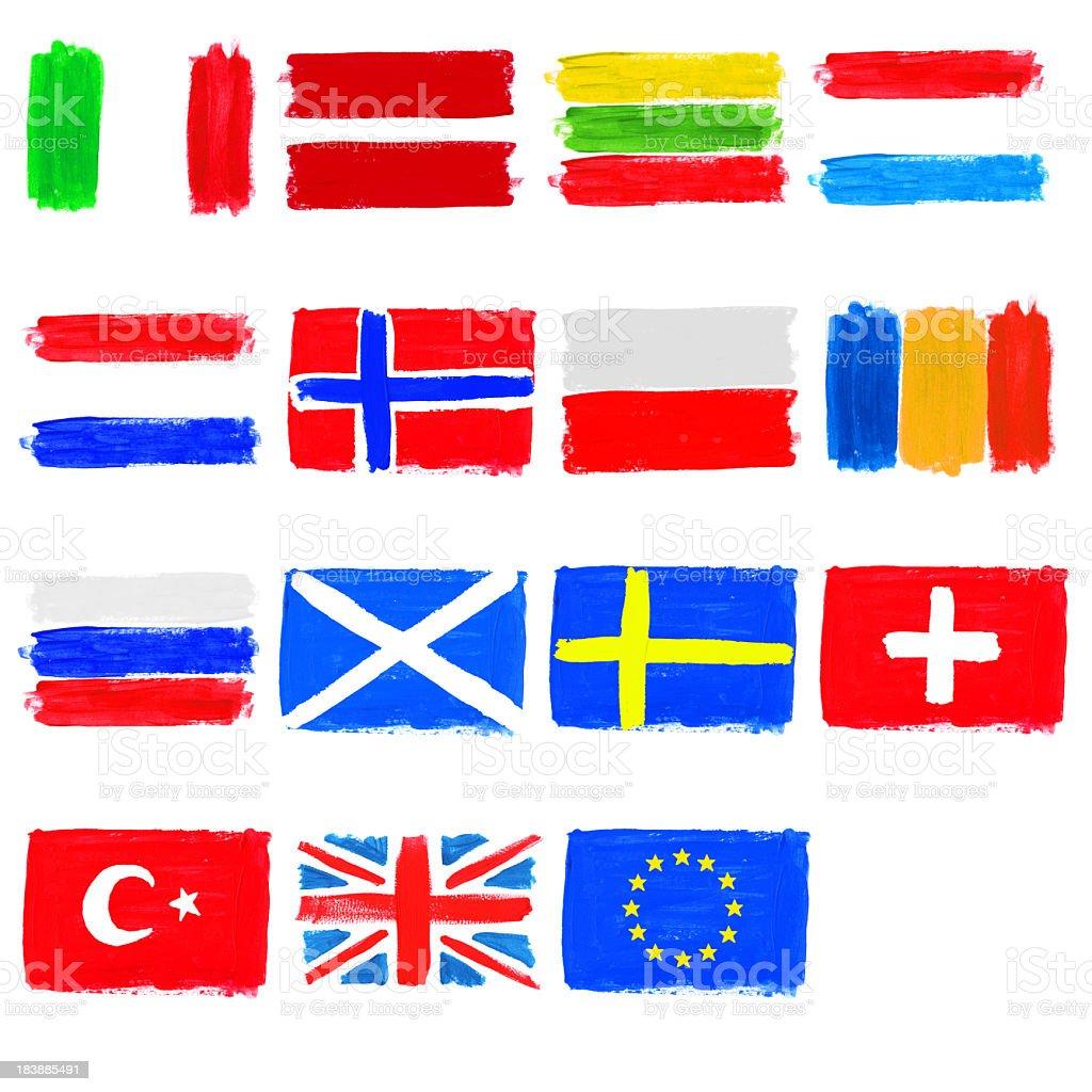 Painted Flaggen Europas-Teil 2 – Foto