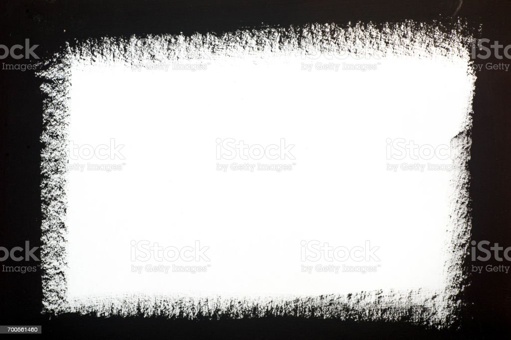 painted frame on white background stock photo