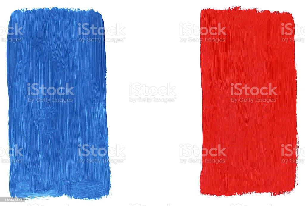 Painted Frankreich-Flagge – Foto