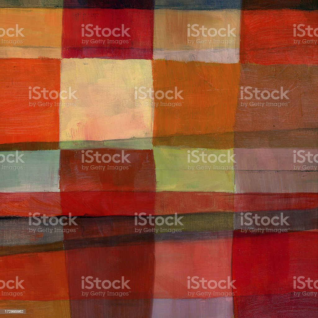 Painted Grid with Warm Colors royalty-free stock photo