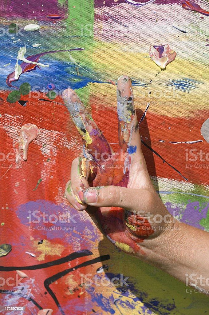 Painted Hand stock photo