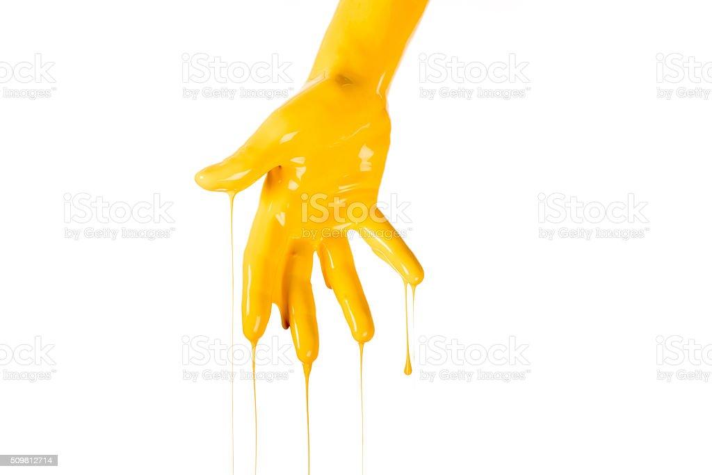 Painted Hand. stock photo