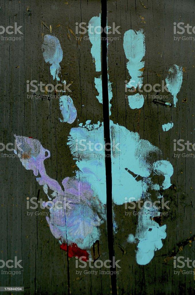 Painted handprint royalty-free stock photo