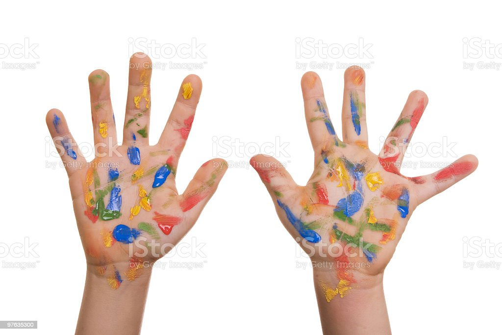 Painted hands royalty-free stock photo