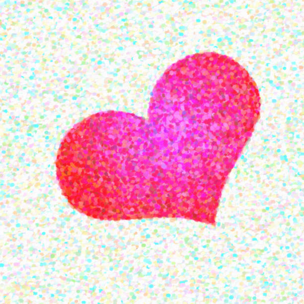 Painted heart by nkbimages stock photo