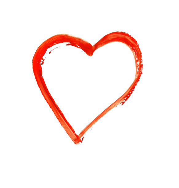 Painted heart - symbol of love stock photo