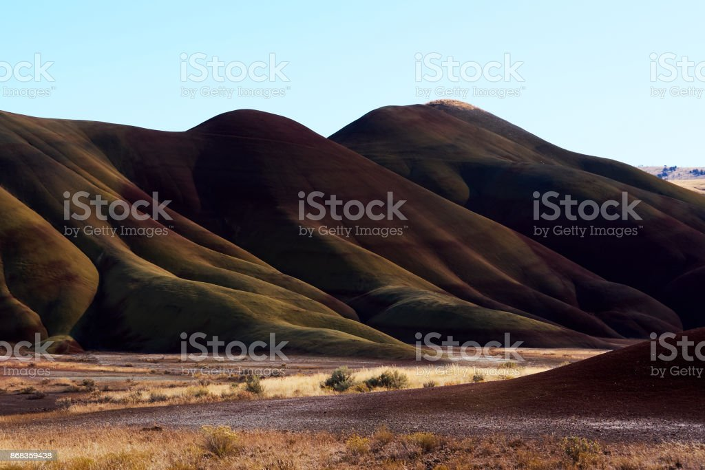 Painted Hills at Ground Level stock photo