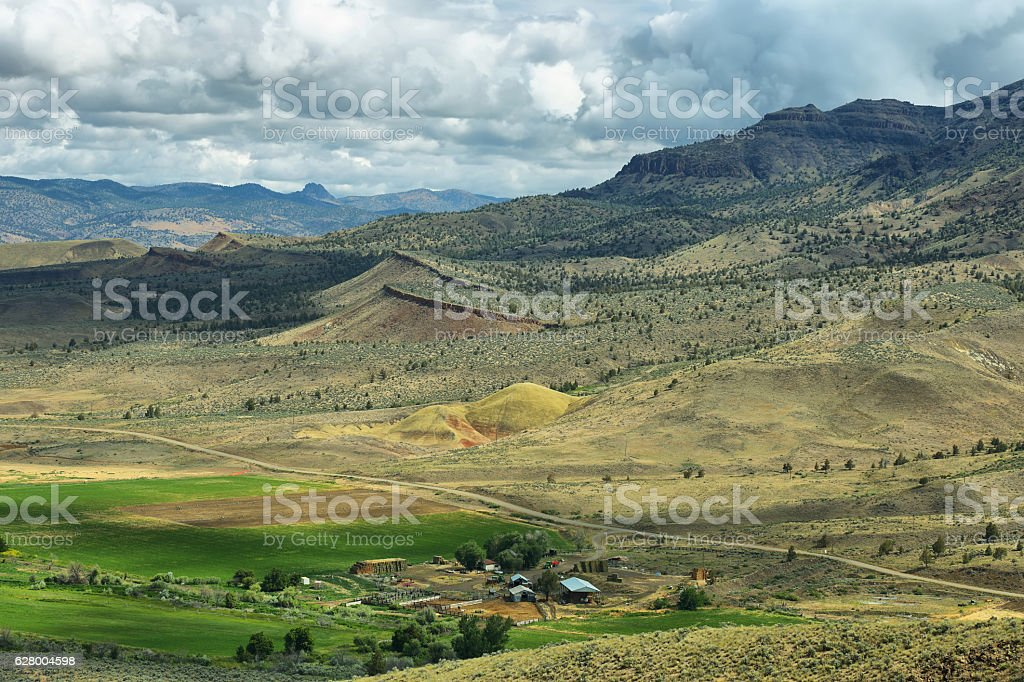 Painted Hills National Monument, USA stock photo