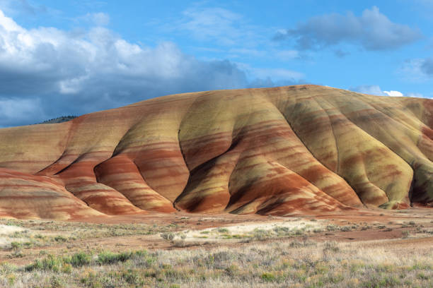 Painted Hills of John Day Fossil Beds National Monument, Oregon, USA stock photo