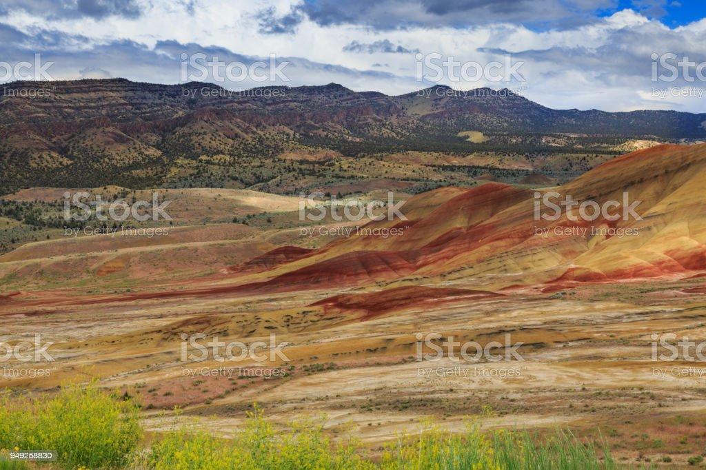Painted Hills, Oregon stock photo